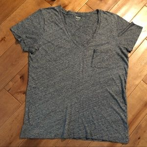 Madewell V-Neck T-Shirt Top Size Large